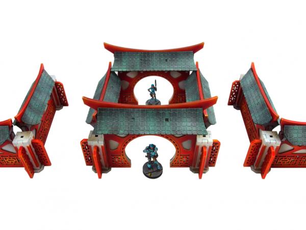 Infinity Terrain: Kokkyo 3 - Walls (Straight)