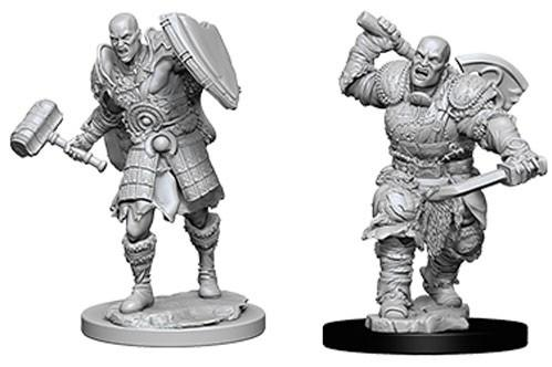 D&D Nolzurs Marvelous Unpainted Minis: Male Goliath Fighters (2)