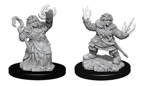 Pathfinder Deep Cuts Unpainted Miniatures: Female Dwarf Summoners (2)