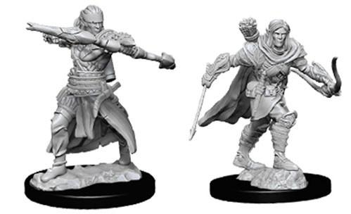 Pathfinder Deep Cuts Unpainted Miniatures: Male Half-Elf Rangers (2)