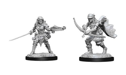 Pathfinder Deep Cuts Unpainted Miniatures: Female Half-Elf Rangers (2)
