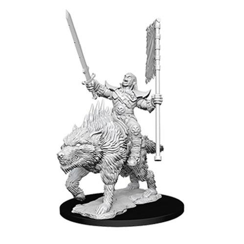 Pathfinder Deep Cuts Unpainted Miniatures: Orc on Dire Wolf
