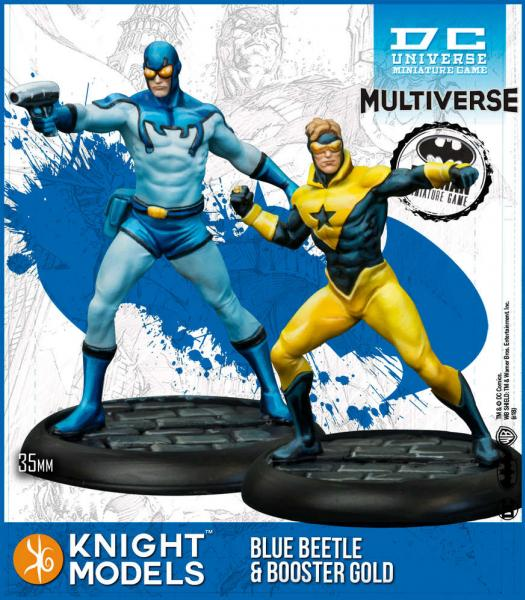 Batman Miniature Game: Blue Beetle & Booster Gold (Multiverse) (Resin)