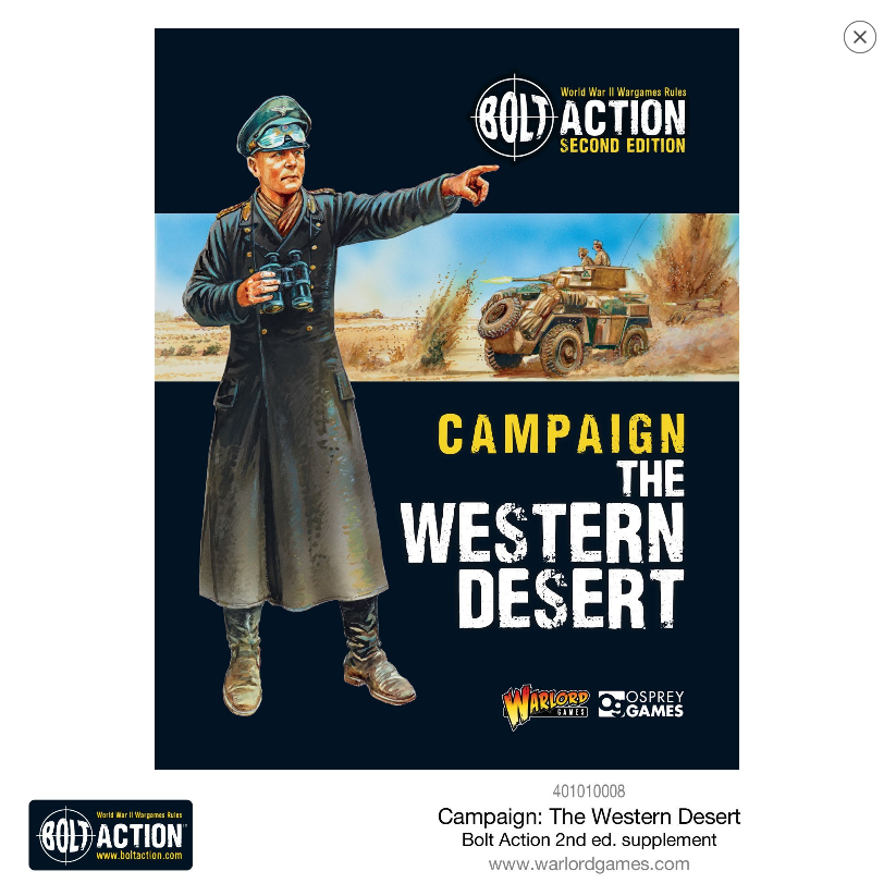 Bolt Action, 2nd Edition: Western Desert Campaign Book