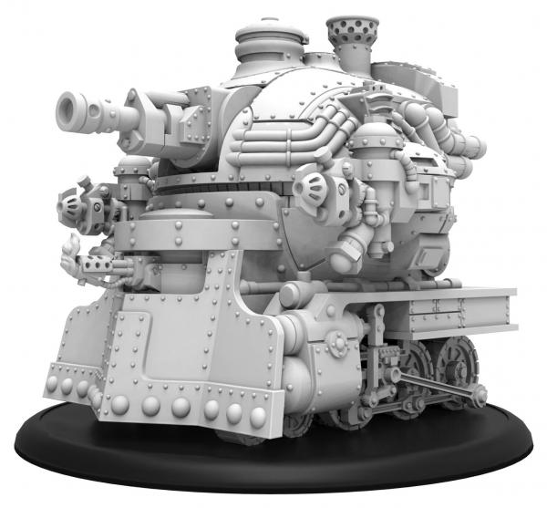 Warmachine: (Golden Crucible) Railless Interceptor – Crucible Guard Battle Engine (metal/resin)