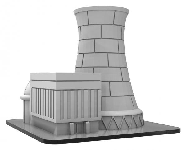 Monsterpocalypse: Buildings - Power Plant (resin)