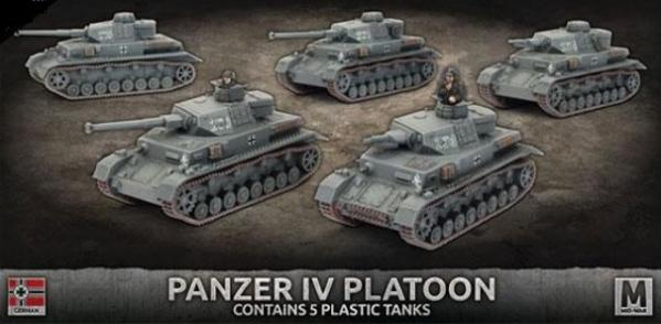 Flames Of War (WWII): (Iron Cross) Panzer IV Tank Platoon (Plastic)