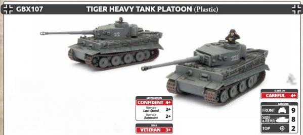 Flames Of War (WWII): (Iron Cross) Tiger Heavy Tank Platoon (Plastic)