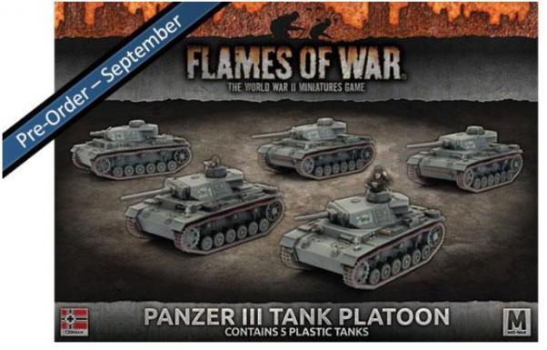 Flames Of War (WWII): (Iron Cross) Panzer III Tank Platoon (Plastic)