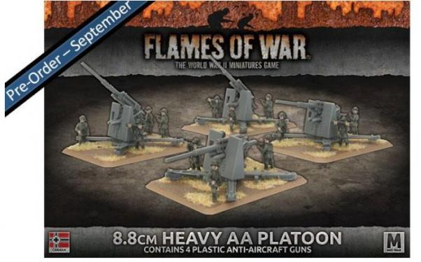 Flames Of War (WWII): (Iron Cross) 8.8cm Heavy AA Platoon (Plastic)