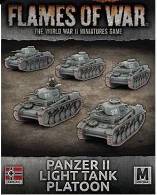 Flames Of War (WWII): (Iron Cross) Panzer II Light Tank Platoon (Plastic)