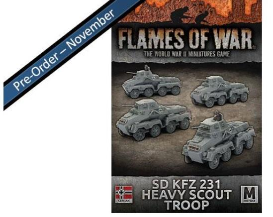Flames Of War (WWII): (Iron Cross) Sd Kfz 231 Heavy Scout Troop