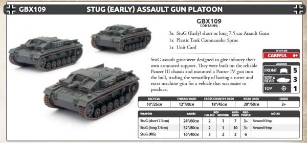 Flames Of War (WWII): (Iron Cross) StuG (Early) Assault Gun Platoon