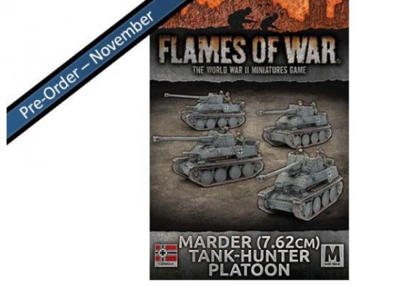 Flames Of War (WWII): (Iron Cross) Marder (7.62cm) Tank-hunter Platoon