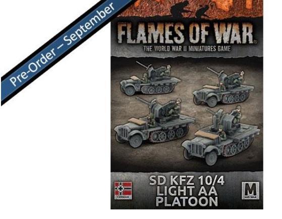 Flames Of War (WWII): (Iron Cross) Sd Kfz 10/4 Light AA Platoon