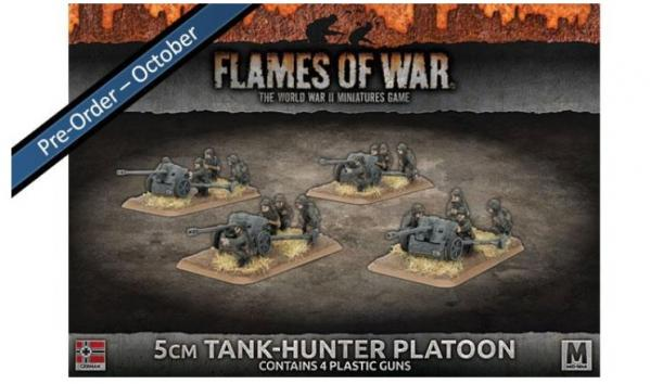 Flames Of War (WWII): (Iron Cross) 5cm Tank-hunter Platoon (Plastic)