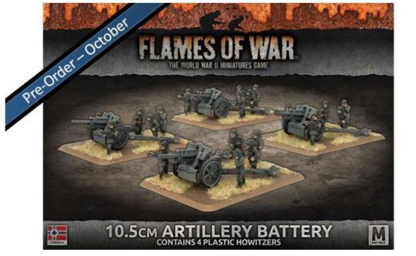 Flames Of War (WWII): (Iron Cross) 10.5cm Artillery Battery (Plastic)