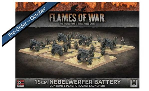Flames Of War (WWII): (Iron Cross) 15cm Nebelwerfer Battery (Plastic)