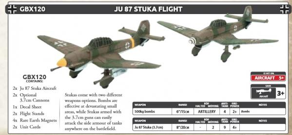 Flames Of War (WWII): (Iron Cross) JU 87 Stuka Flight