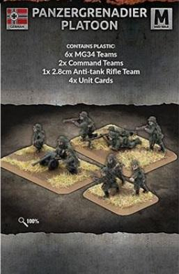 Flames of War: (Iron Cross) Panzergrenadier Platoon (Plastic)