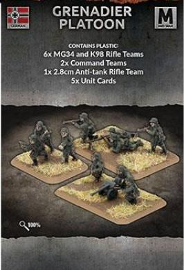 Flames of War: (Iron Cross) Grenadier Platoon (Plastic)
