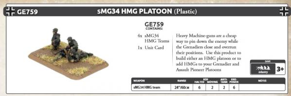 Flames of War: (Iron Cross) sMG34 HMG Platoon (Plastic)