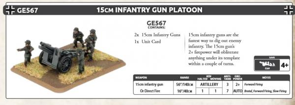 Flames of War: (Iron Cross) 15cm Infantry Gun Platoon