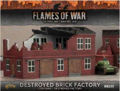 Flames of War: Battlefield in a Box - Destroyed Brick Factory