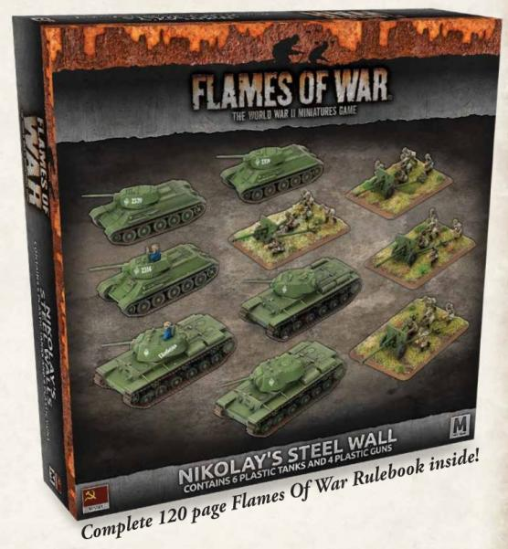 Flames Of War (WWII): (Soviet)  'Nikolay's Steel Wall' Plastic Army Deal