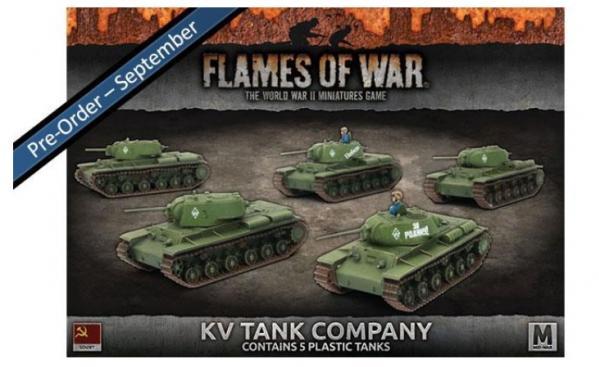 Flames Of War (WWII): (Soviet) KV Tank Company (Plastic)