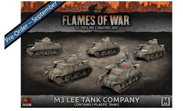 Flames Of War (WWII): (Soviet) M3 Lee Tank Company (Plastic)