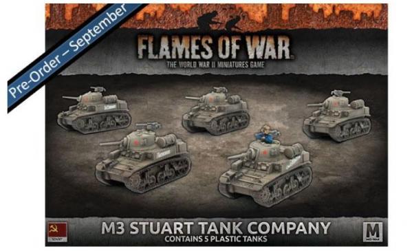 Flames Of War (WWII): (Soviet) M3 Stuart Tank Company (Plastic)