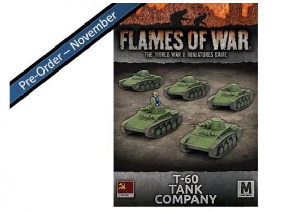Flames Of War (WWII): (Soviet) T-60 Tank Company (x5)