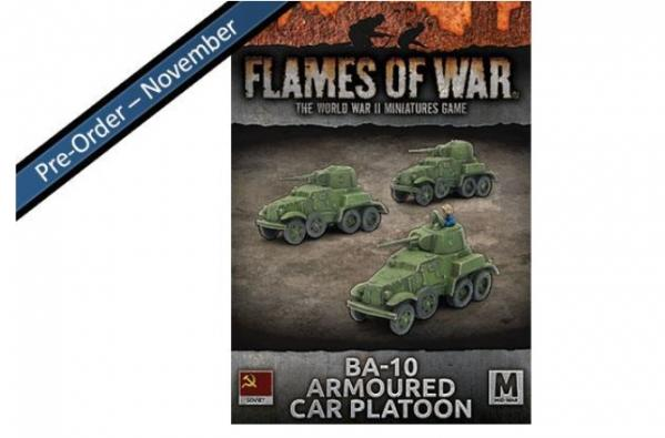 Flames Of War (WWII): (Soviet) BA-10 Armoured Car Platoon