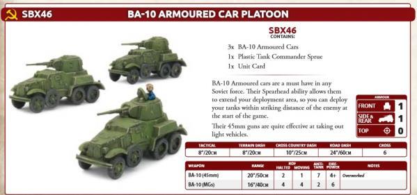 Flames Of War (WWII): (Soviet) BA-10 Armoured Car Platoon