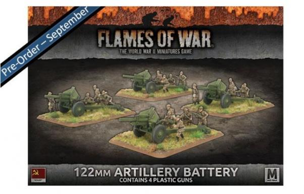 Flames Of War (WWII): (Soviet)  122mm Artillery Battery (Plastic)