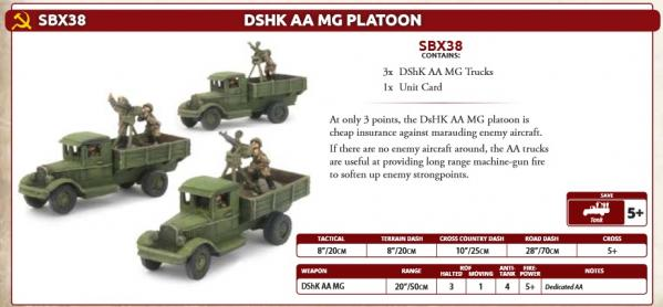 Flames Of War (WWII): (Soviet) DShK AA MG Platoon