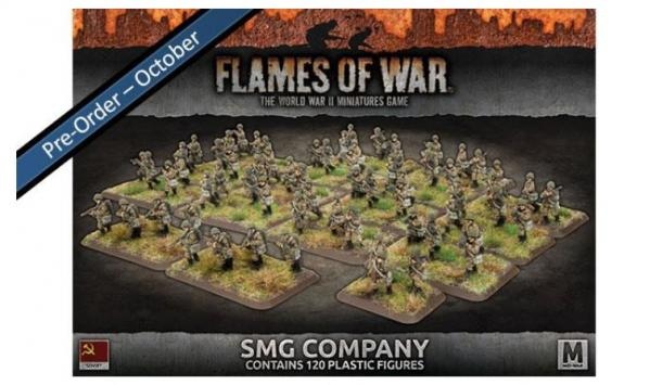 Flames Of War (WWII): (Soviet) SMG Company (Plastic)