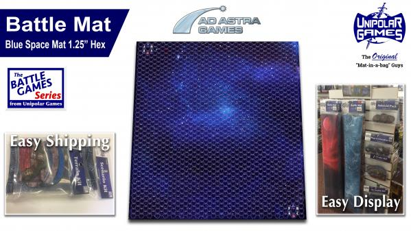 Game Play Mats: Blue Space Mat 1 25 Hex - Game Kastle Online