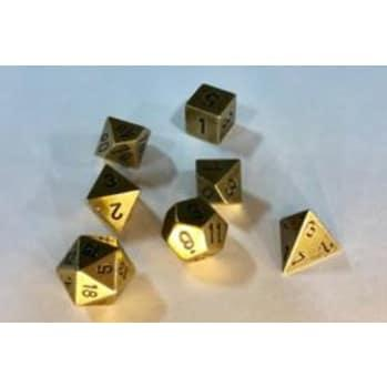 Chessex Metal Dice: Metal Dark Metal 7 Die Polyhedral Set