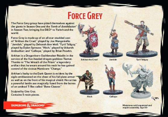 D&D Collector's Series: Force Grey (5 figure set)