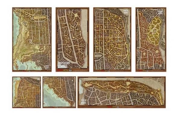D&D 5th Edition: Waterdeep Wards Map Set