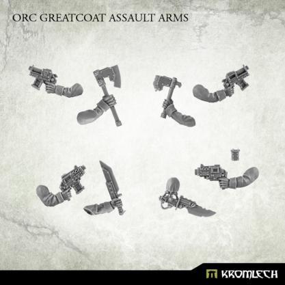 Kromlech Conversion Bitz: Orc Greatcoat Assault Arms (5)
