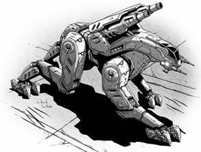 BattleTech Miniatures: Antlion LK-3D Mech - 45 Tons - TRO 3145 Federated Suns