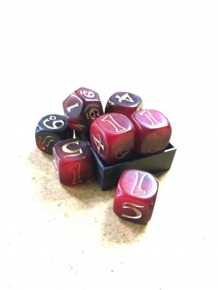 The One Ring RPG: One Ring Dice Set - Red and Black