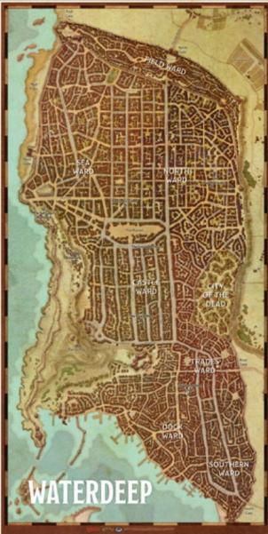 D&D 5th Edition: Waterdeep City Map