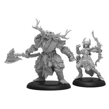 Hordes: (Circle Orboros) Bríghid & Caul Character Unit (2) (metal/resin)
