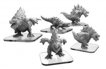 Monsterpocalypse (2018): Carnidon & Spikodon - Terrasaur Units (metal/resin)