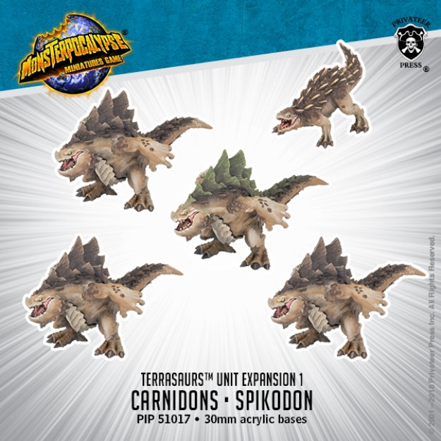 Monsterpocalypse: Carnidon & Spikodon - Terrasaur Units (metal/resin)
