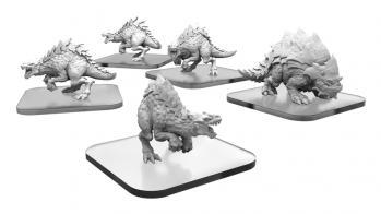 Monsterpocalypse (2018): Raptix & Brontox - Terrasaur Units (metal/resin)